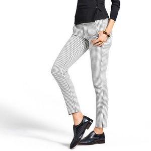 NEW CAbi Windowpane Plaid Black & White Pants